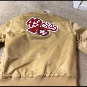 San Francisco 49ers sz medium jacket, like new!!